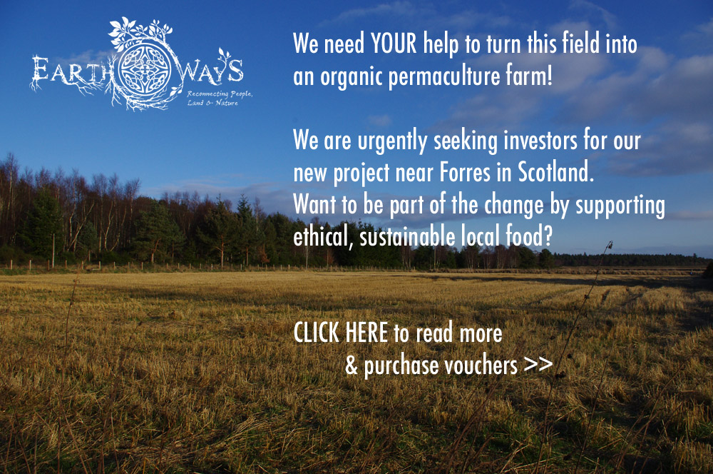 Please support Earth Ways' new permaculture farm