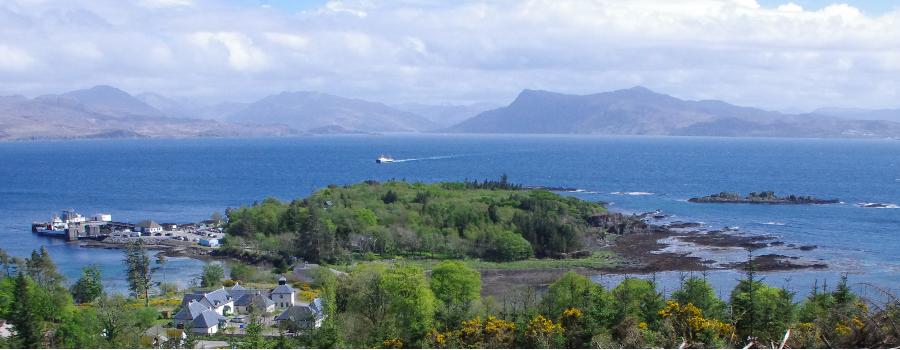 Rubha Phoil from Armadale hill, Isle of Skye